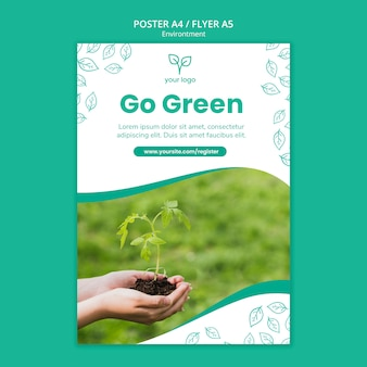 Environment theme for poster template