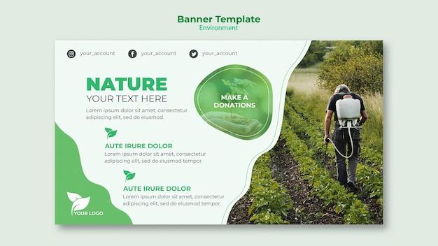 Environmental banner template concept