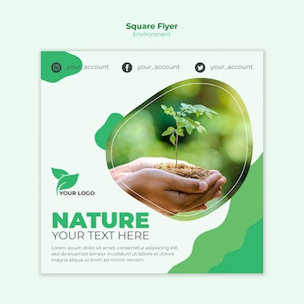 Environmental square flyer template