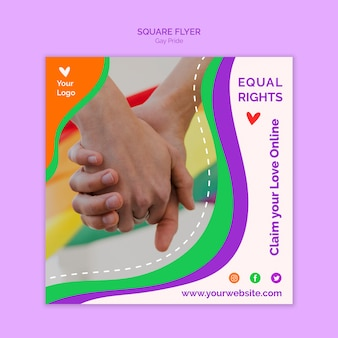 Equal rights square flyer template