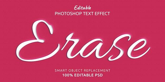 Стереть редактируемый эффект стиля текста photoshop