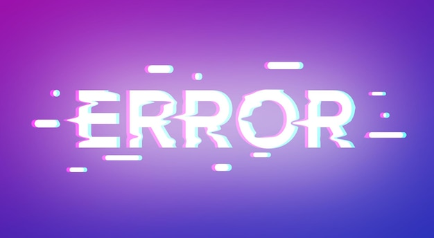 Error text effect template layer style