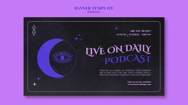 Esoteric banner template