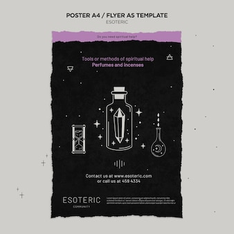 Esoteric craft poster template
