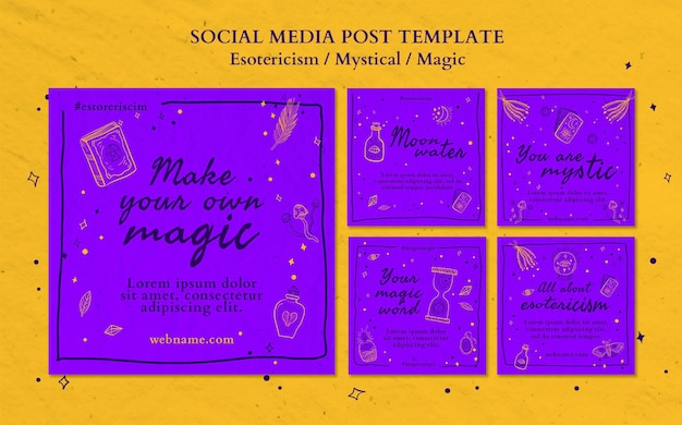 Esotericism ad social media post template