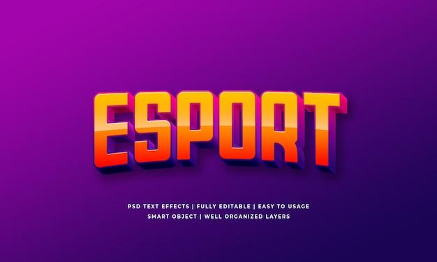 Esport 3d text style