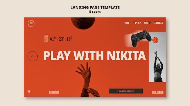 Esport landing page template design