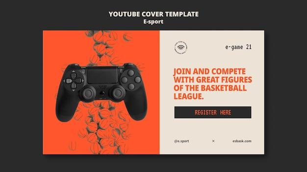 Esport youtube cover template design