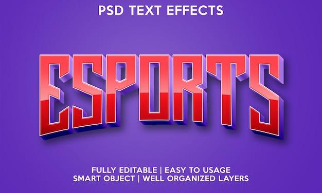 Esports text effect
