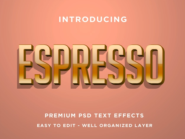 Espresso 3d text effect templates