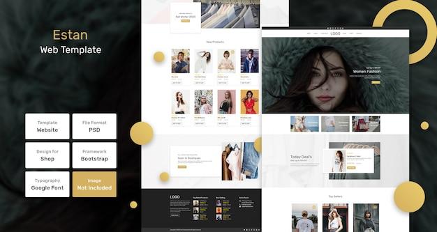 Веб-шаблон магазина модной одежды estan