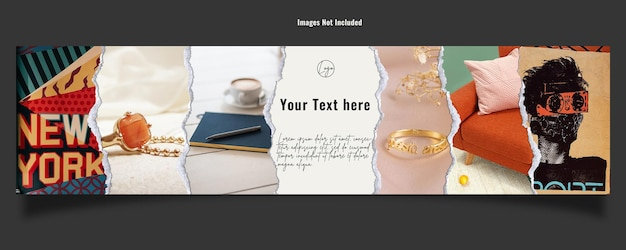 Etsy banner template for shop cover