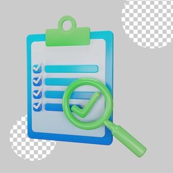 Evaluation concept 3d illustration