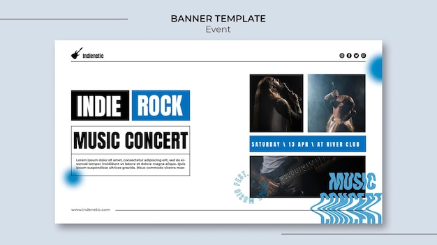 Event banner template
