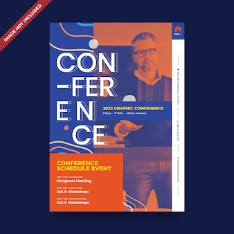 Event conference psd flyer template