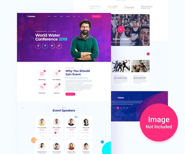 Event and conference psd template