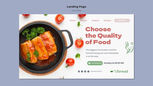 Целевая страница кулинарии мероприятия