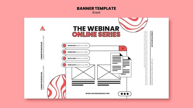 Modello di banner webinar online evento