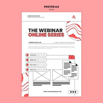 Modello di poster per webinar online di eventi