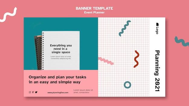 Шаблон дизайна целевой страницы для планировщика мероприятий Бесплатные Psd