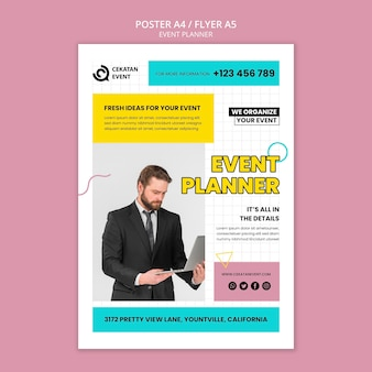 Шаблон плаката для планировщика мероприятий