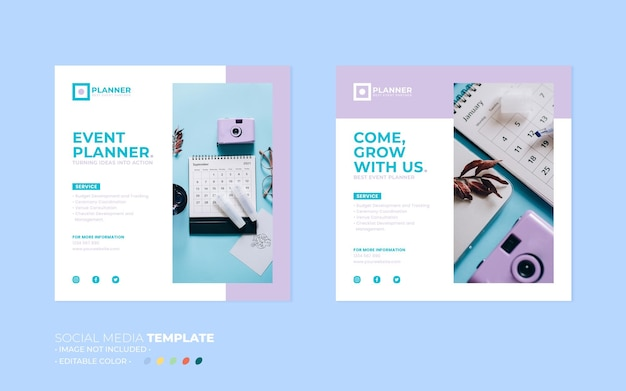 Event planner social media post template