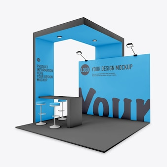 Event stand mockup isolated