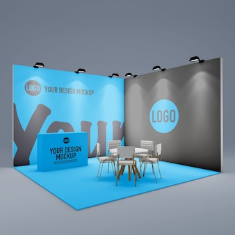 Event stand for presentation mockup isolated
