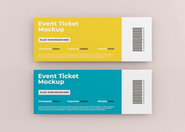 Дизайн макета билета на мероприятие изолирован