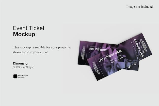 Event ticket mockup design