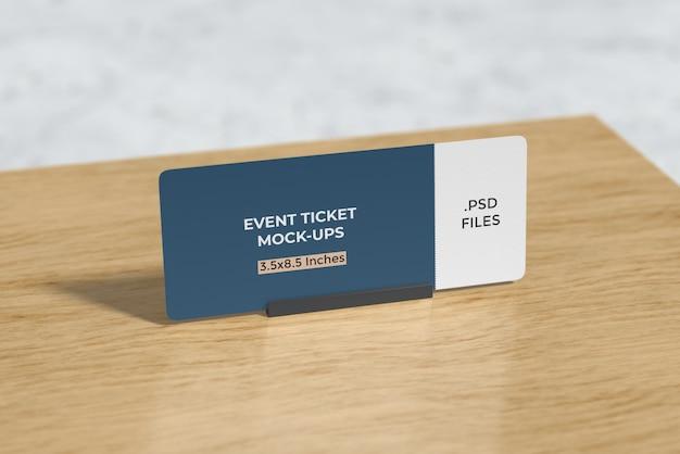 테이블에 이벤트 티켓 이랑