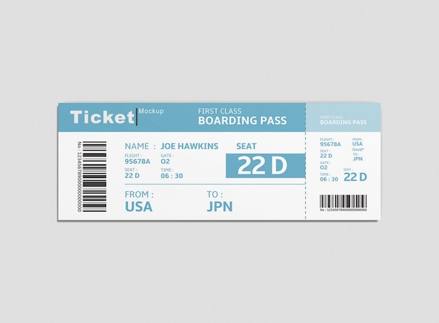 Event ticket mockup