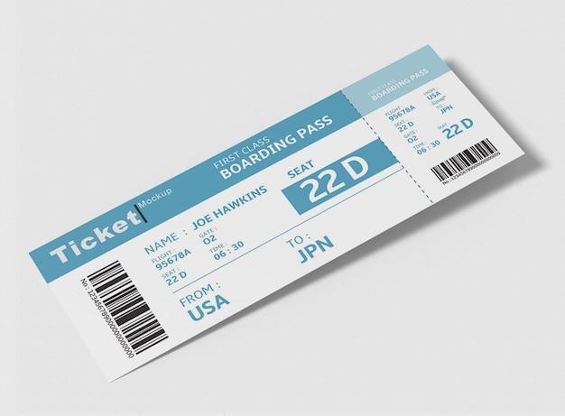 Макет билета