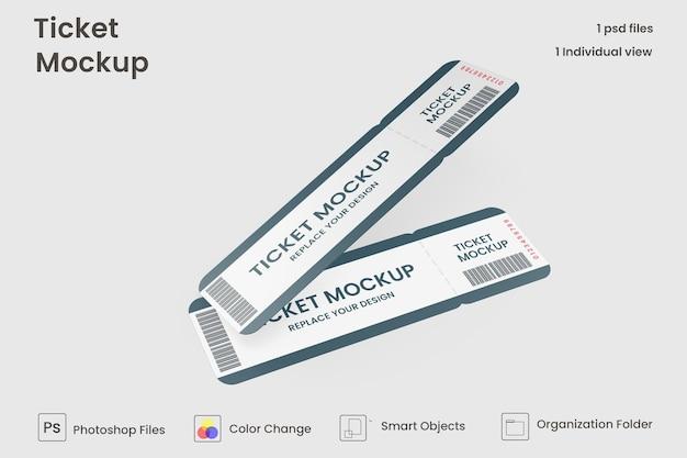 Изолированные макет билетов на мероприятия