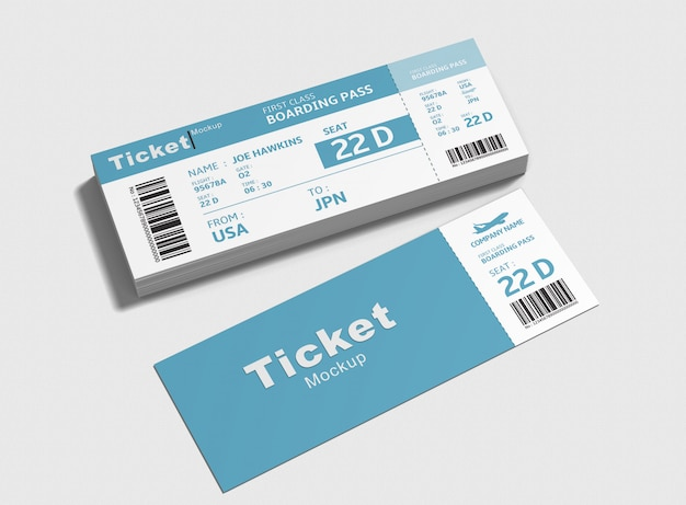 Макет билетов на мероприятия