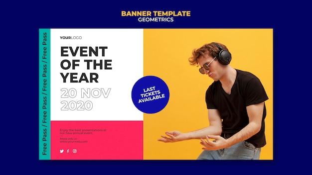 Modello di banner evento dell'anno