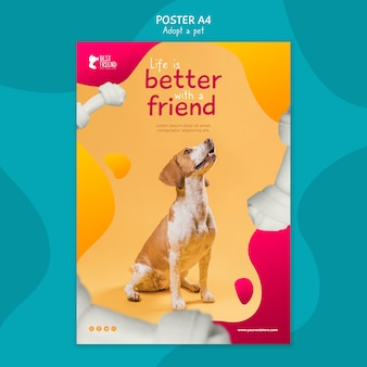 Every pet needs a home poster template