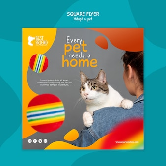 Every pet needs a home square flyer