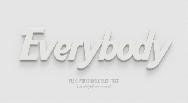 Everybody 3d text style effect