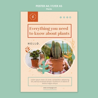 Everything you need to know about plants poster