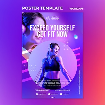 Exceed yourself poster template
