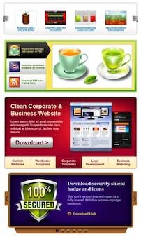 Excellent content sliders  download psd