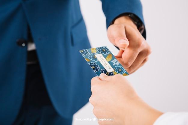 Обмен визитной карточкой