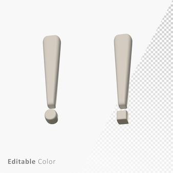 Exclamatory 3d mark symbol premium psd