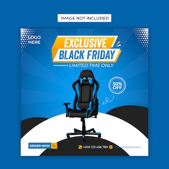 Exclusive black friday social media and facebook cover post template