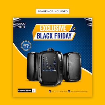 Exclusive black friday social media and instagram post template