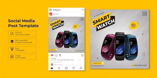 Exclusive collection smartwatch sale social media post template