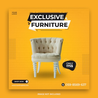 Exclusive furniture sale social media instagram post template
