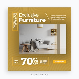Exclusive furniture social media post template