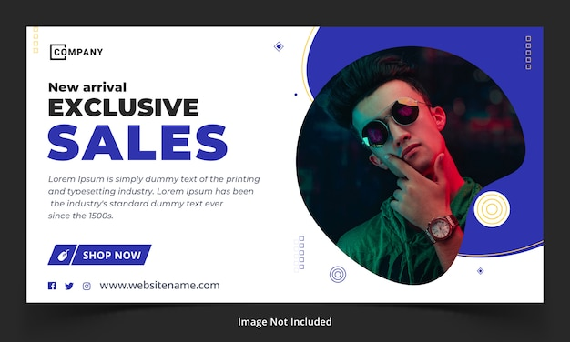 Exclusive sale web banner template